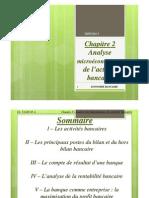 Economie Bancaire - Chapitre 2 Ppt - Analyse Microeconomique de l'Activite Bancaire - Ugb Lea 2013 [Mode