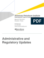 Administrative and Regulatory Updates Bill Methenitis