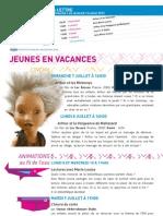 La Lettre de l'IFM Du 7 Au 12 Juillet 2013