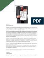 Codigo de Etica Del Psicologo Peruano
