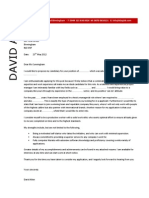 Project Manager Cover Letter Example 5