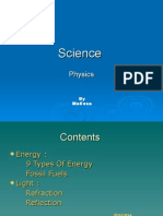 Science Physics by Meli Ssa Contents  Energy :