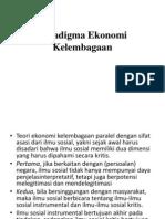 Paradigma Ekonomi Kelembagaan