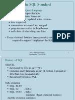 4 the SQL Standard