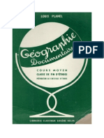 Géographie L Planel 06 CM1-CM2 (Fin d'études primaires) (Ecoles rurales) Géographie Documentaire