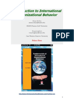 International Organizational Behavior