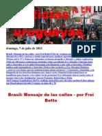 Noticias Uruguayas Domingo 7 de Julio Del 2013