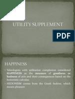 Utility Supplement
