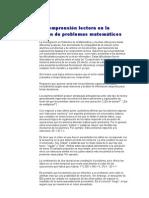 LACOMPRENSIONLECTORAYLARESOLUCIONDEPROBLEMASMATEMATICOS