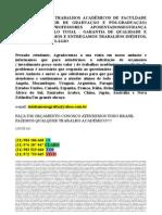 R$300,00 MONOGRAFIA E TCC PARA TODOS OS CURSOS