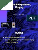 Spatial Interpolation, Kriging