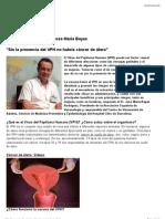 Vacuna del VPH. Administración en mujeres adultas y en varones.  Dr. José María Bayas