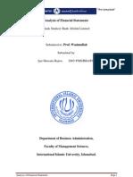 Analysis of Financial Statement Bank Alfalah Report