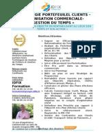 Stratégie Portefeuille clients-Organisation Commerciale- Gestion du Temps
