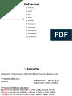 5A Ordklasser Og Setningsanalyse