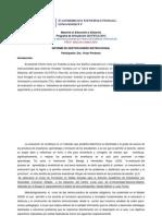 informeMaestría en Educación a Distancia
