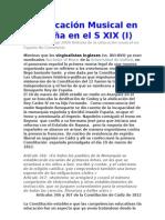 La educación Musical en España en el S XIX