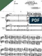 rachmaninov concerto no 1