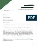 FBI Request for Investigation (Redacted)
