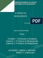 A Ciência da Biogeografia