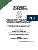 Hemocultivos (Manual Automatizado)