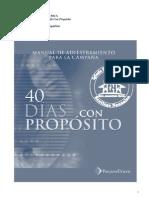 CAMPAÑA 40 DIAS  CON PROPOSITO MANUAL