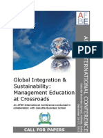 AFBE International Conference on Global Integration & Sustainability