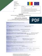 Cerere Certificat de Inregistrare UE
