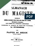 Encausse Gerard - L Almanach Du Magiste 1895