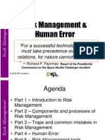 Risk Management and Human Error