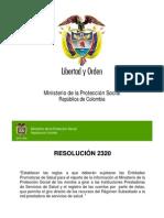 PRESENTACION RESOLUCION 2320