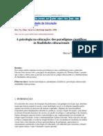 A psicologia na educação - dos paradigmas científicos PSICANÁLISE