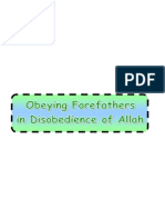 Obeying Forefathers in Disobedience of Allah
