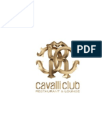 Cavalli Club Lounge Menu
