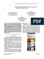 Study on Downhole Multi-sensor Monitoring and Data Transmission of Electric Submersible Pump