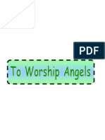 To Worship Angels