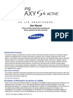 ATT SGH-i537 Galaxy S4 Active English User Manual