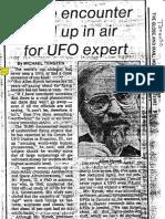 Hynek Forgets His Ufo