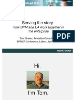 """BPM Conference Portugal 2013 - Tom Graves """"Serving the story"""