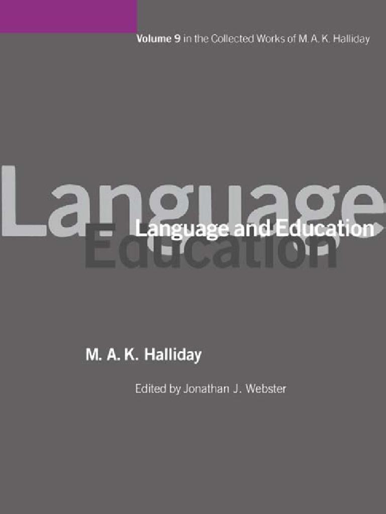 Halliday - Language and Education pdf   Linguistics   Biodiversity
