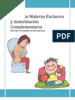 Lactancia Materna Exclusiva y Alimentación Complementaria