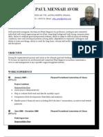 John Paul's CV
