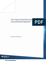 4 Steps Toward Planning a Succesful Email Migration