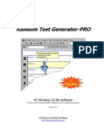 Random Test Generator-PRO - Software Manual