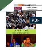 TWSC-Sephis lecture tour Narrative Report
