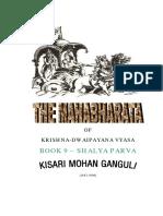 Mahabharata Book 9 Shalya Parva