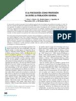Imagen de La Psicologia Como Profesion Sanitaria Entre La Poblacion Gral