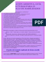COMUNICACIÓN ASERTIVA GUÍA DE LECTURAS PARA EL DESARROLLO DE HABILIDADES