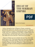 11 - Decay of the Serbian empire
