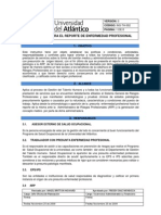 Ins-th-002 Reporte de Enfermedad Profesional